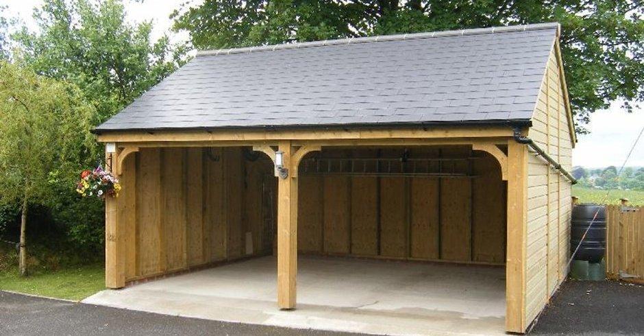 Garajes de madera - Garage de madera ...